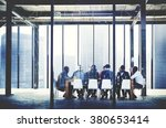 group of multi ethnic people... | Shutterstock . vector #380653414