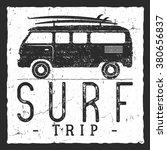 Surf Trip Concept. Vector...