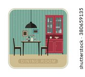 interior of dining room with... | Shutterstock . vector #380659135