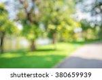 abstract blur city park bokeh... | Shutterstock . vector #380659939