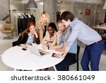 group of business people... | Shutterstock . vector #380661049