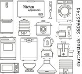 set of line icons. kitchen... | Shutterstock .eps vector #380662741