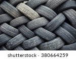 used car tires pile in the tire ... | Shutterstock . vector #380664259