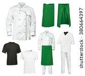 Set White Green Chef - Fine Art prints