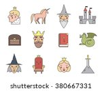fairy tail icons set. vector... | Shutterstock .eps vector #380667331