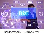 b2c  concept  presented by ... | Shutterstock . vector #380669791