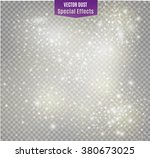 vector dust on a transparent... | Shutterstock .eps vector #380673025