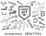 hand drawn arrow icons set... | Shutterstock . vector #380677501