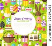 Happy Easter Pattern Backgroun...