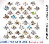 isometric buildings. industrial ... | Shutterstock . vector #380691835