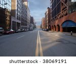 pittsburgh city street with... | Shutterstock . vector #38069191