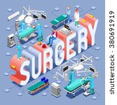 surgery healthcare infographic. ... | Shutterstock . vector #380691919