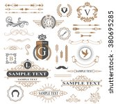 typographic design elements | Shutterstock .eps vector #380695285