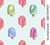 ice cream seamless background... | Shutterstock .eps vector #380703907