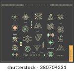big set of minimal geometric... | Shutterstock .eps vector #380704231