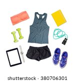 sports outfit and equipment on... | Shutterstock . vector #380706301