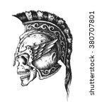 hand drawn spartan warrior...   Shutterstock .eps vector #380707801