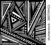 geometric vector background.... | Shutterstock .eps vector #380709421