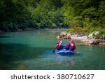 rafting in the canyon of... | Shutterstock . vector #380710627
