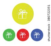 vector icon of modern gift box | Shutterstock .eps vector #380722351