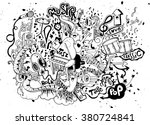 abstract music background ... | Shutterstock .eps vector #380724841