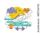 fitness concept of fitness... | Shutterstock .eps vector #380726701