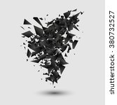 abstract black explosion.... | Shutterstock .eps vector #380732527