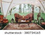 wedding. decor. on the green... | Shutterstock . vector #380734165
