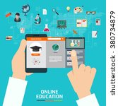 online education e learning... | Shutterstock .eps vector #380734879