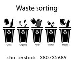 waste sorting  flat style ...   Shutterstock .eps vector #380735689