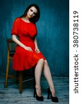 beautiful elegant female model...   Shutterstock . vector #380738119