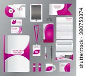 white identity template with... | Shutterstock .eps vector #380753374
