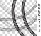 tire tracks.  vector... | Shutterstock .eps vector #380759287