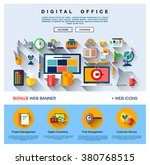 flat web design one page...
