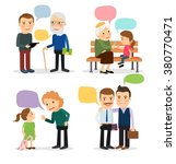 characters with speech bubbles   Shutterstock . vector #380770471