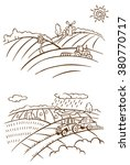 linear illustration of farm... | Shutterstock .eps vector #380770717