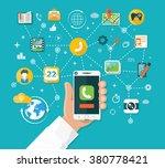 smartphone functions design... | Shutterstock . vector #380778421