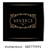 invitation vintage card | Shutterstock .eps vector #380779591