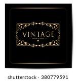 invitation vintage card | Shutterstock .eps vector #380779591