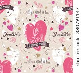 background with  red valentine... | Shutterstock .eps vector #380791147
