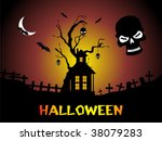 scary night on the graveyard ... | Shutterstock .eps vector #38079283