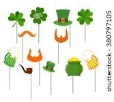patricks day set photo props... | Shutterstock .eps vector #380797105