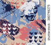 ink splatter seamless pattern.   Shutterstock .eps vector #380798275