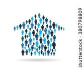 house buyers graphic. vector... | Shutterstock .eps vector #380798809