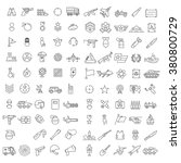 100 linear icons for military ...