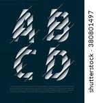 typographic broken alphabet in... | Shutterstock .eps vector #380801497