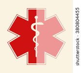 medical symbol of the emergency.... | Shutterstock .eps vector #380804455