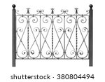 forged steel  fence with ... | Shutterstock . vector #380804494