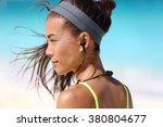 fitness girl with sport in ear... | Shutterstock . vector #380804677