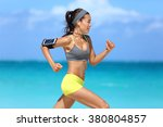 athlete running woman runner... | Shutterstock . vector #380804857